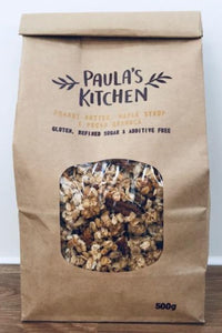 Paula's Kitchen peanut butter, maple syrup and pecan granola
