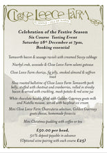 Book seats at our six course, fine dining festive tasting menu event. 28th Dec