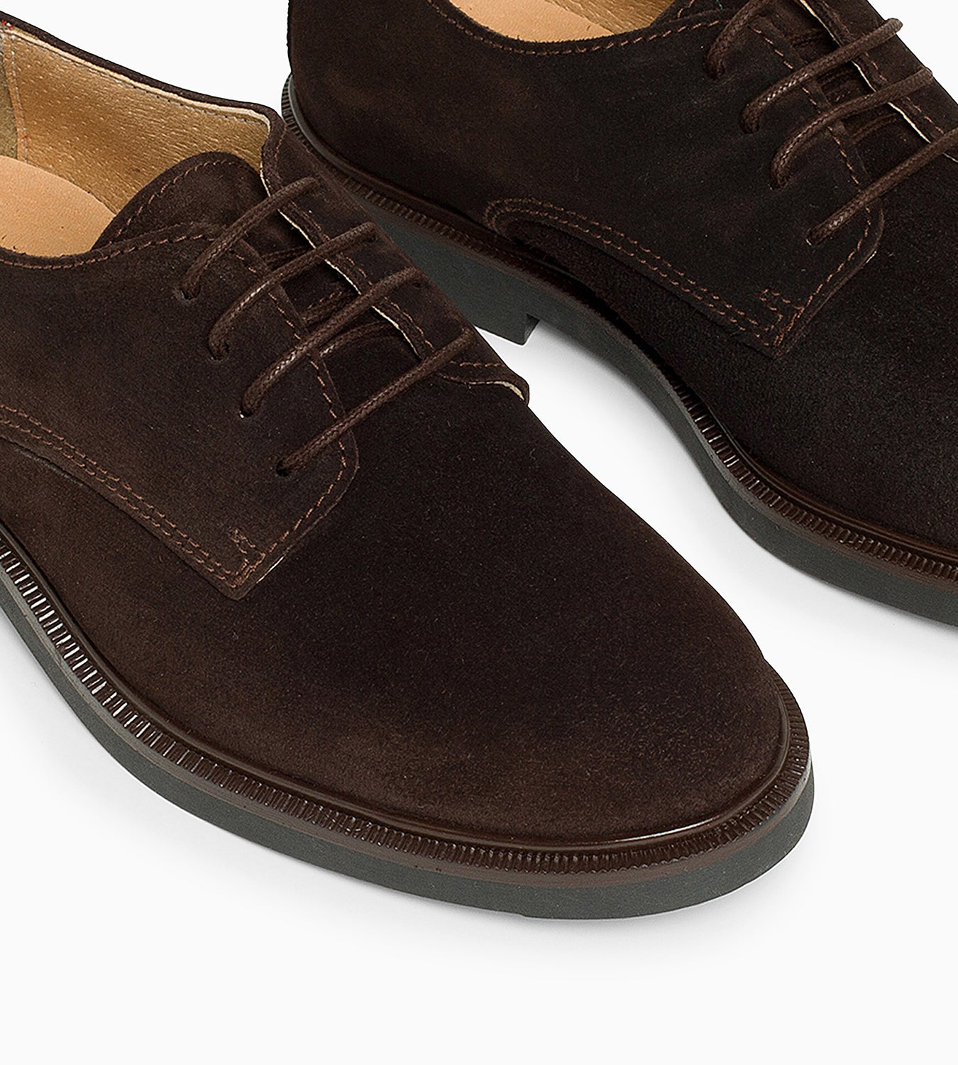 Blucher Oxford Serraje Marrón - Ganzitos