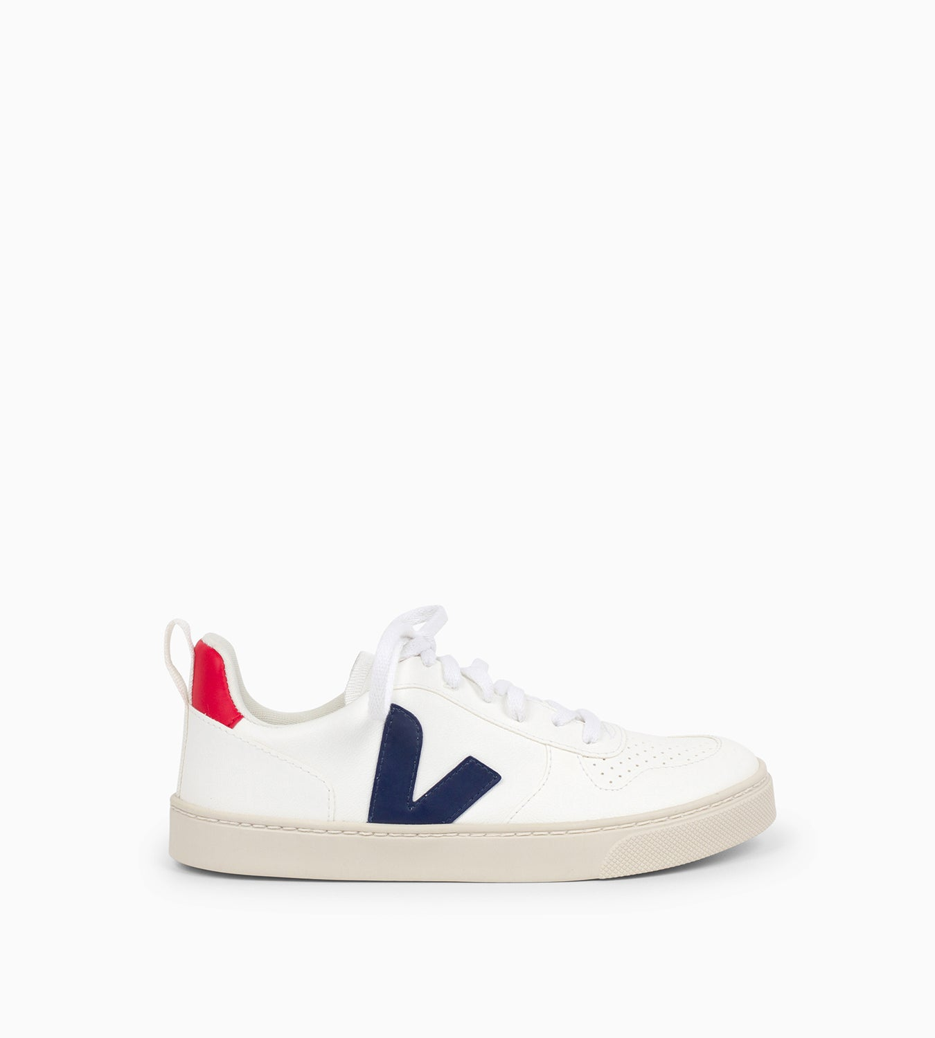 Zapatilla Small V10-Lace Extra White Cobalt_Pekin - Ganzitos