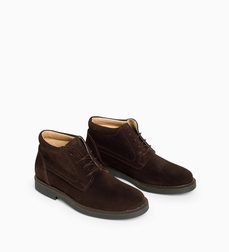 Botines Taker Serraje Marron - Ganzitos