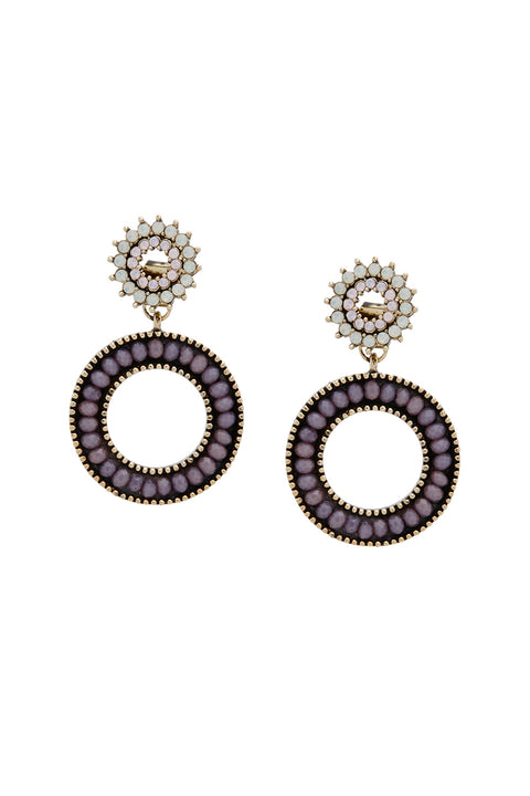 Gemstone Drop Earrings | OROSHE