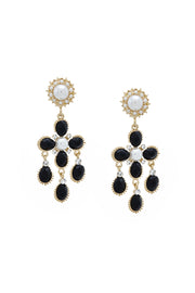 Tulip Pearl and Gemstone Chandelier Earrings | OROSHE