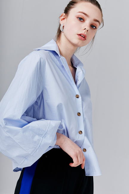 Amanda Balloon Sleeve Shirt | OROSHE