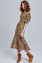 Aysha Floral Midi Dress | OROSHE