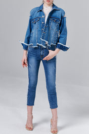 Bella Distressed Denim Jacket