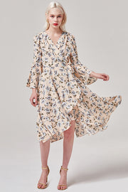 Blossoming Wrap Dress | OROSHE
