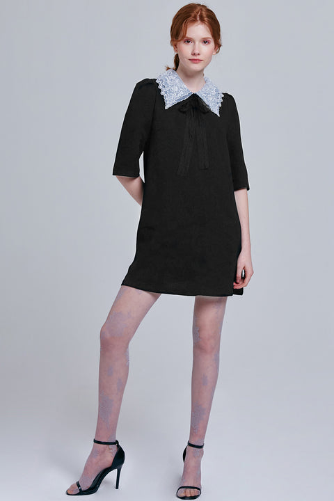 Briella Lace Collar Dress | OROSHE