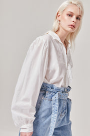 Button Up White Blouse | OROSHE