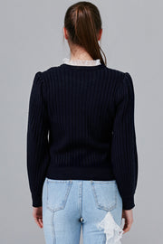 Cara Ruffle Neck Knit Top | OROSHE