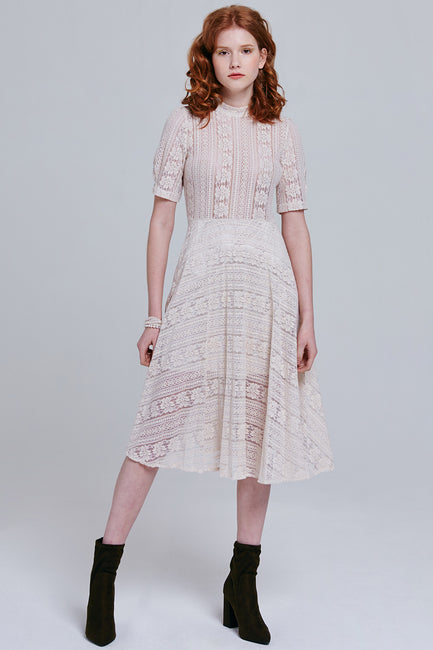 Charlee Sheer Lace Dress | OROSHE
