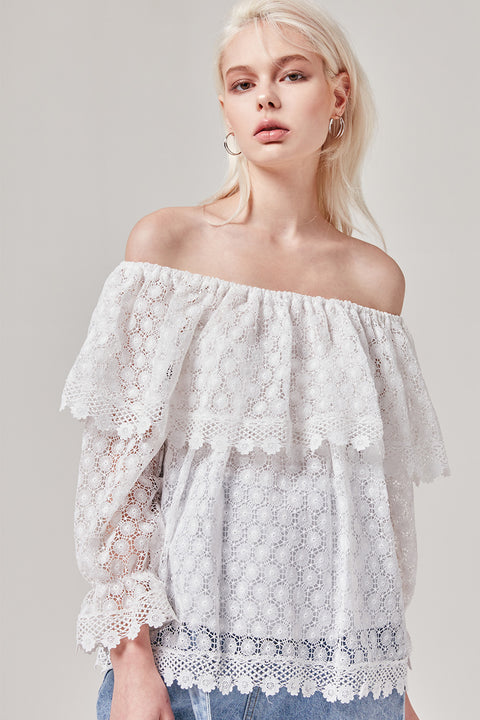 Crochet Off the Shoulder Top | OROSHE