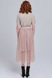 Esther Flowy Star Mesh Skirt | OROSHE