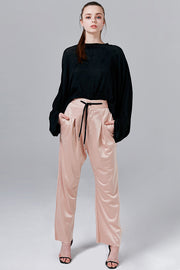Felicity Satin Wide-Leg Pants