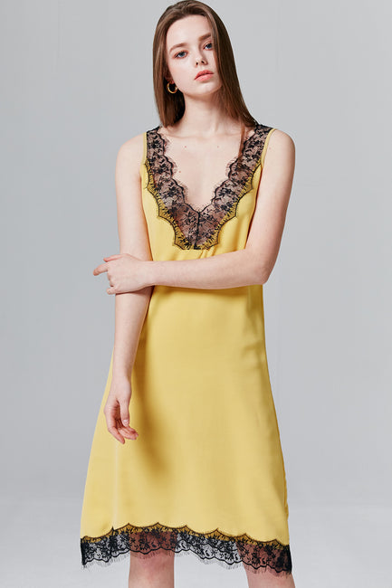 Grace Lace-Trim Slip Dress | OROSHE