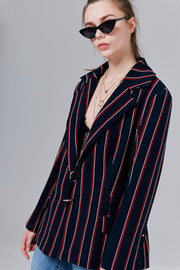 Heidi Striped Blazer with Rings