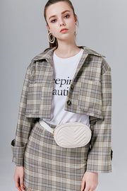 Charlie Cropped Plaid Jacket | OROSHE
