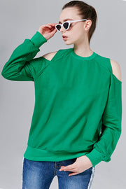 Jackie Cutout Shoulder Sweatshirt | OROSHE