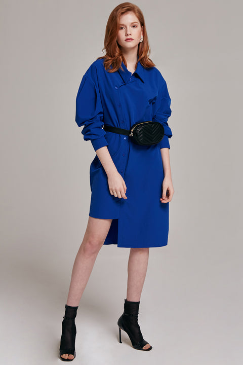 Jen Angled Button-up Dress | OROSHE