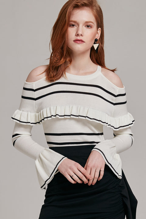 Mia Cold Shoulder Knit Top | OROSHE