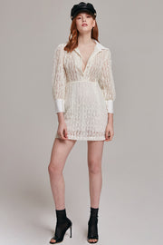 Odette Lace Blouse Dress | OROSHE