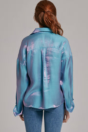 Jacqueline Iridescent Button-up Blouse | OROSHE