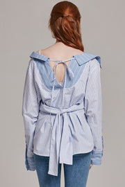 Charlie Tie Waist Button-Up Blouse | OROSHE