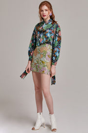 Kathy Embroidered Floral Mini Skirt | OROSHE