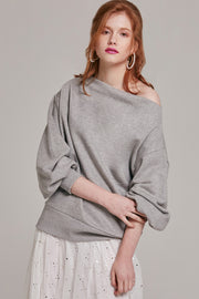 Caity Balloon Sleeve Top | OROSHE