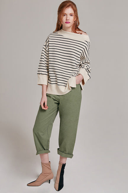 Hallie Wide Leg Cotton Pants | OROSHE