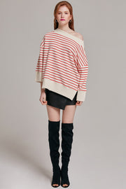Clara Striped Off-the-Shoulder Top | OROSHE