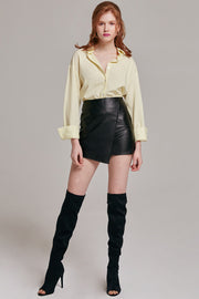 Isabella Faux Leather Mini Skirt | OROSHE