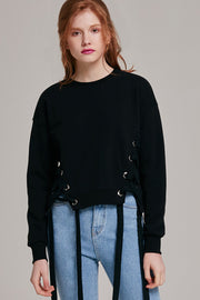 Selma Tie Ribbon Front Sweater | OROSHE