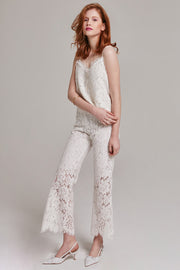 Gemma Lace Cropped Pants | OROSHE