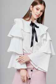 Bianca Tiered-Sleeve Blouse | OROSHE