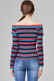 Lucy Ribbed Multistripe Top | OROSHE