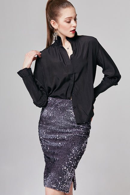 Natalie Sequin-Embellished Skirt | OROSHE