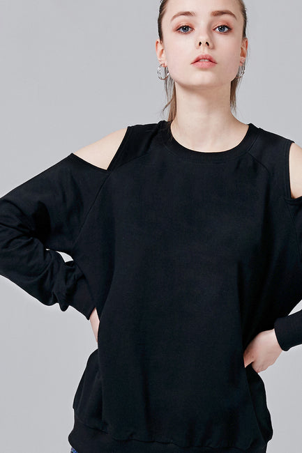 Jackie Cutout Shoulder Sweatshirt