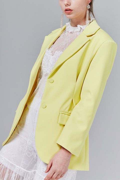 Jessica Single-Breasted Blazer with Belt | OROSHE