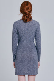Lani Tie Front Gray Dress | OROSHE