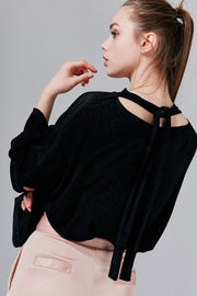 Leslie Tie-Back Oversized Top