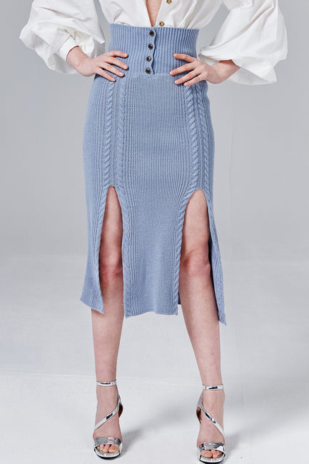 Naomi M-Slit Knit Skirt | OROSHE