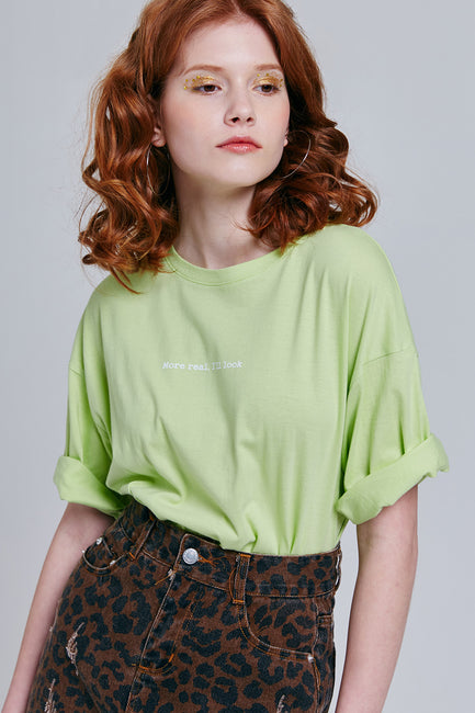 Patricia Chartreuse Tee | OROSHE