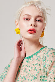 Rose Statement Earrings