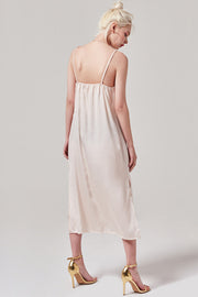 Satin Slit Slip Dress | OROSHE
