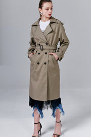 Shannon Hound's-tooth Trench Coat | OROSHE