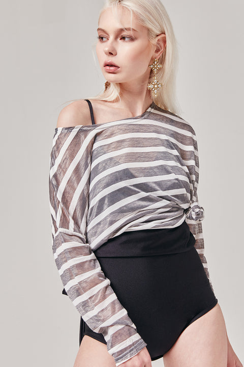 Sheer Stripe Tee | OROSHE