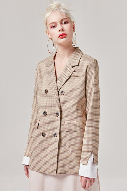 Tattersall Plaid Blazer | OROSHE
