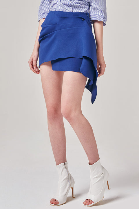Wrap Flare Mini Skirt | OROSHE