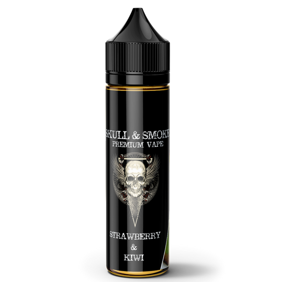 Strawberry & Kiwi Skull and Smoke E-liquid 120ml Short Fill